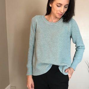 Loft Pale Blue Knit Crew Neck Sweater Size Large